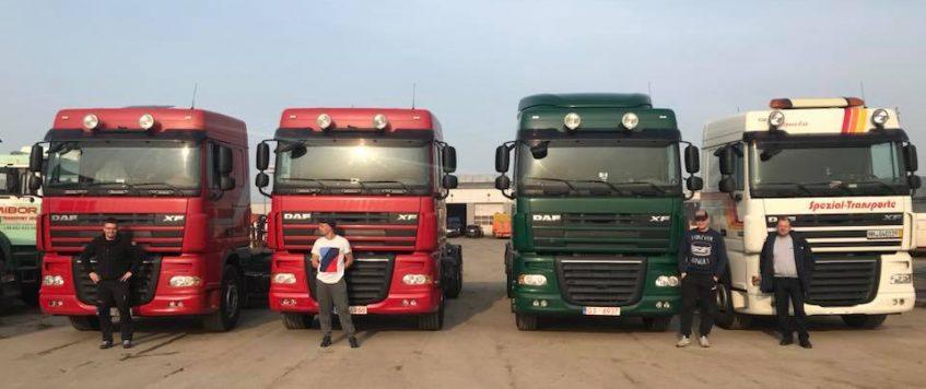 Nasza flota od dzisiaj powiększyła się o cztery pojazdy DAF XF Euro5
